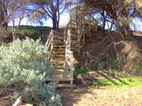 Steps to the Sandy Beach at O'connor road Corinella